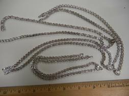 1 fine 18 inch necklace/w austrian rhinestones in crystal co