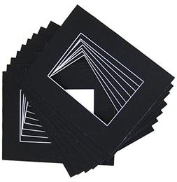 10 of 18x24 Black Pre-cut Acid-free whitecore mat for 13x19