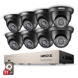 ZOSI 8CH 1080P HDMI DVR 720P HD Outdoor CCTV Home Security C