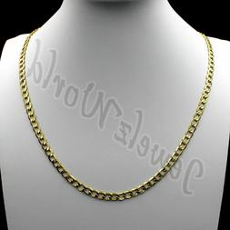 10K Solid Yellow Gold Cuban Curb Link Chain Necklace 2.5MM 1