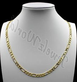 """10K Solid Yellow Gold Figaro Link Chain Necklace 2.5MM 16"""" 1"""