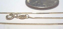 10Kt Pure Solid Gold 18 inch .6MM BOX Chain with Gift Box