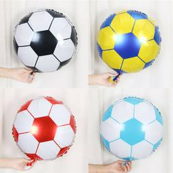 10pcs 18inch Football Foil Balloon Soccer Ball Round Helium