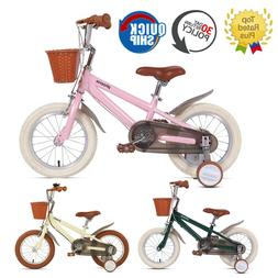 14 16 18 Inch Kids Bike With Training Wheels For Ages 3-12 Y