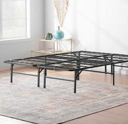 14/16/18 inch Platform Bed Frame Steel Slat Mattress Foundat