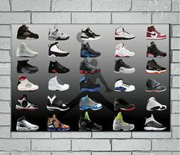 143023 Air Jordan Sneaker Shoes Decor Wall Print Poster CA