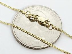 """14K 18"""" Inch 1mm Solid Yellow Gold Gourmette Miami Cuban Nec"""