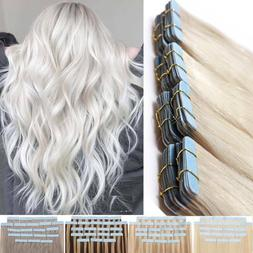 150g Real Thick Tape In Skin Weft 100% Human Hair Extensions