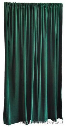 156-inches High Ceiling Forest Green Velvet Curtain Long Pan
