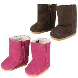 18 Inch Doll Boots 2 Pair Set, Our Faux Suede Ewe Boots will