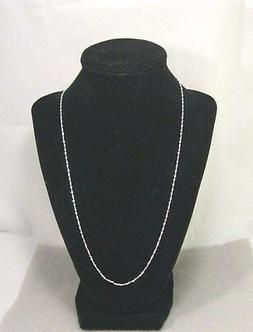 """18 inch 2 mm 925  """"S-Twist"""" sterling silver  necklace"""