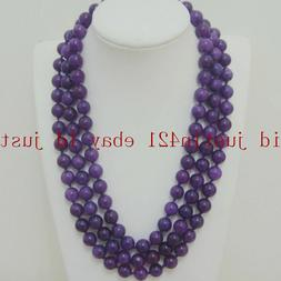 18 Inch-36 Inches 8mm 10mm Russian Amethyst Round Beads Gems