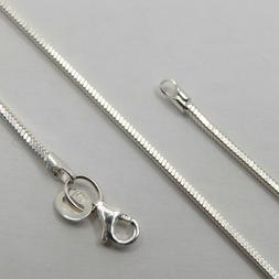 18 inch / 45 cm  solid 925 STERLING SILVER 1.5mm Square Snak