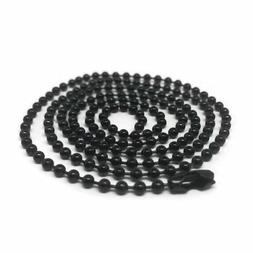 18 Inch Black Stainless Steel Ball Chain 2.4 mm Military Spe