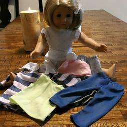 18 inch DOLL CLOTHES  8 PIECES~2 PANTS~4TOPS~HAT~SKIRT~BRAND