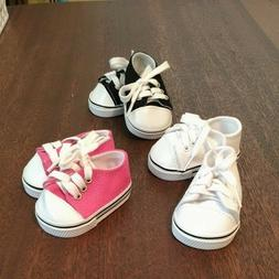 18 inch  DOLL CLOTHES ~ EMILY ROSE ~ PINK ~ CANVAS SNEAKERS