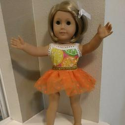 18 inch  DOLL CLOTHES.ORANGE TUTU SKIRT SET ~ 2 Pieces ~ GLI