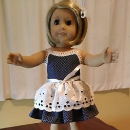 18 inch Doll Clothes ~  PARTY DRESS ~ COTTON EYELET Overlay