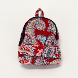 18 Inch Doll Mini Backpack - Red Paisley - Backpack for Amer