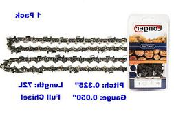 "18-Inch Semi Chisel 72 Drive Links Chainsaw Chain .325"" Pitc"