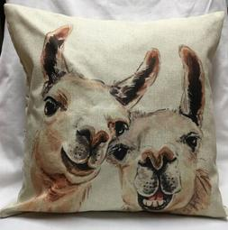 18 Inch Funny Llamas Pillow Case/zipperclosure /Home Décor/