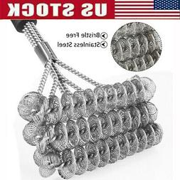 18 inch Grill Stainless Steel Cleaner Wire Bristle Barbecue