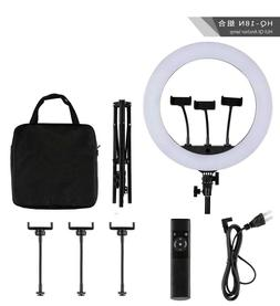 """18"""" inch HQ BiColor LED Ring Light Kit with Stand Social Med"""