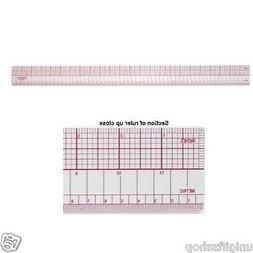 "18"" Inch/metric Metric Beveled Ruler, Inch Ruler. Inches Ove"