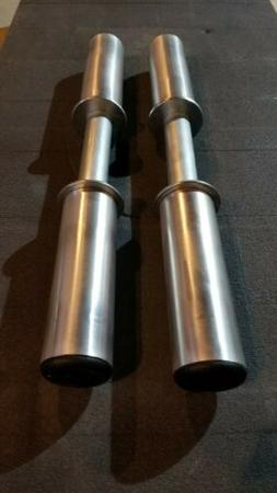 18 Inch Olympic Dumbbell Handles. PAIR. FREE PRIORITY SHIPPI