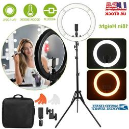 """18"""" inch Outer LED Ring Light Kit 55W Dimmable 3200K-5600K w"""