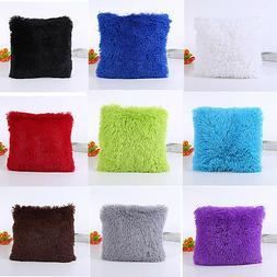 18 Inch Plush  Square Pillow Case Home Sofa Throw Waist Cush