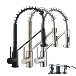 18-Inch Swivel Commercial Kitchen Sink Faucet Pull Down Spra