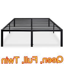 18 Inch Tall Heavy Duty Steel Slat Bed Frame Platform Founda