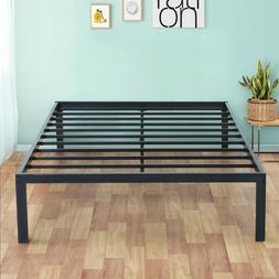 SLEEPLACE 18 Inch Tall Metal Bed Frame Easy Assembly Black
