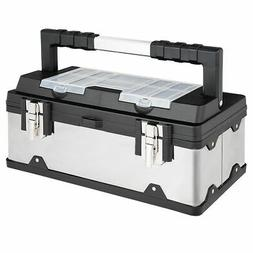 18 Inch Tool Box Stainless Steel and Plastic Portable Organi
