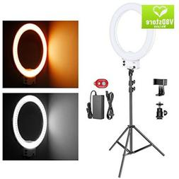 Neewer 18-inch White LED Ring Light with Light Stand Lightin