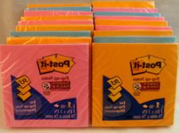 18 Pads  3M Super Sticky Post-it Accordian Notes 3x3 Inch El
