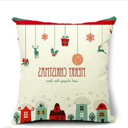 18 x 18 Inch Linen Cloth Throw Pillow Cushion Case For Home
