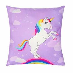 18 x 18-Inch Unicorn Throw Pillow Covers Decorative Soft Cus