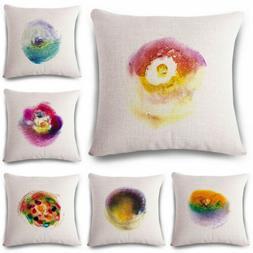 18inch Creative Color Cotton Linen Pillow Case Cushion Cover