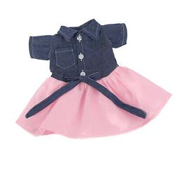 18inch Girl Doll Fairy Short Sleeve Patchwork Skirt for Amer