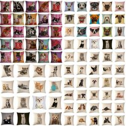 18Inch Square Pillow Case Dog Cat Animal Pattern Sofa Cushio