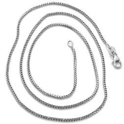 18K WHITE GOLD CHAIN 1.2 MM SQUARE FRANCO LINK, 16 INCHES, 4