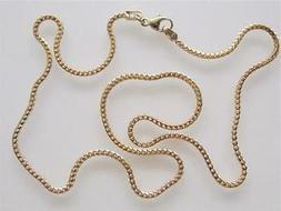 18k. Yellow Gold Italian Designer Fancy Square Chain, 16 Inc