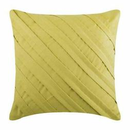 18x18 inch Pillow Decorative Suede Butter Yellow - Contempor