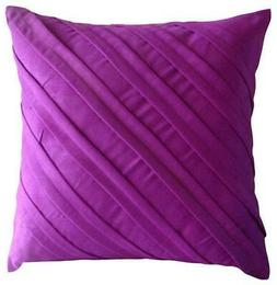 18x18 inch Pillow Suede Decorative Fandango Pink - Contempor