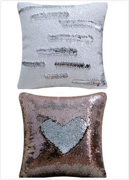 18x18-Inch Sequin Pillow Case Double-Color Reversible Sequin