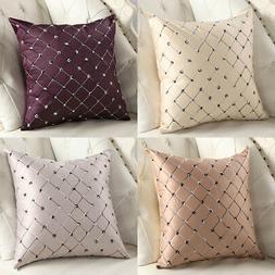 18x18Inch Square Throw Pillow Case Sofa Waist Cushion Cover