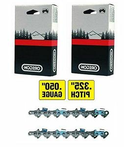 """2 Oregon 20LPX074G Chainsaw Chain Loops for 18"""" Bar, .325"""""""