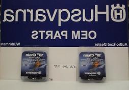 2 pack Genuine Husqvarna 531300439 18-Inch H30-72  Pixel Cha